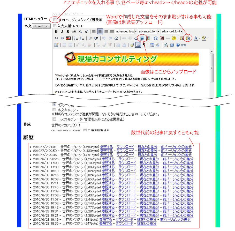 ICMS編集画面
